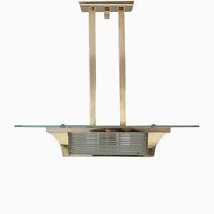 Lámpara de techo vintage de latón de Atelier Petitot, 1932