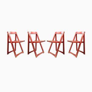 Chaises Pliantes par Aldo Jacober, 1960s, Set de 4