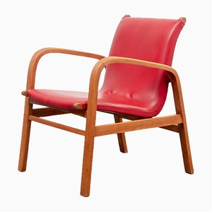 Red Lounge Chair, 1950s