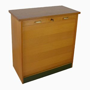 Mid-Century Wooden Filing Cabinet