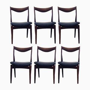 Esszimmerstühle aus Nussholz von Kurt Østervig für Bramin, 1960er, 6er Set