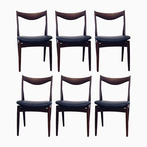 Walnut Dining Chairs by Kurt Østervig for Bramin, 1960s, Set of 6