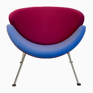 Pink and Blue F437 Orange Slice Chair by Pierre Paulin for Artifort, 1960s