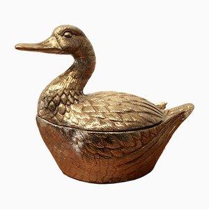 Cubitera en forma de pato de latón, años 70