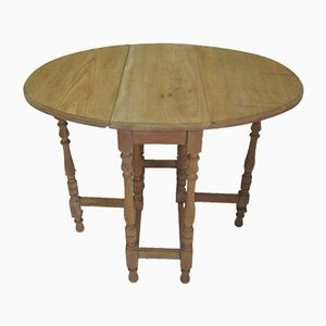 Oak Folding Table, 1940s