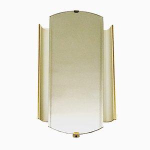 Specchio da parete illuminato di Hillebrand, anni '50