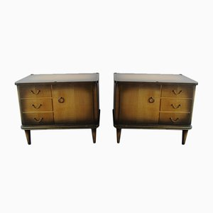 Art Deco Bedside Cabinets, 1950s, Set of 2