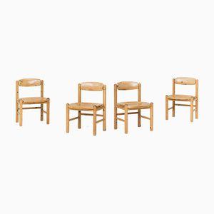 Vintage Esszimmerstühle aus Pinienholz von Rainer Daumiller, 1960er, 4er Set