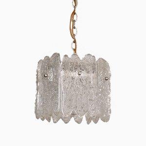 Skandinavische Vintage Hängelampe aus Kristallglas von Carl Fagerlund für Orrefors