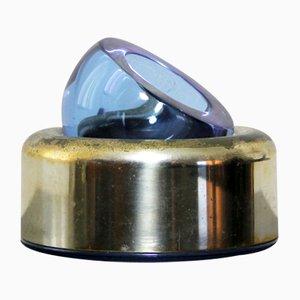 Aschenbecher aus Kristallglas von Joe Colombo für Arnolfo Di Cambio, 1968