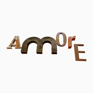French Industrial Amore Letter Set, 1950s