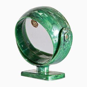 Specchio rotondo vintage da tavolo, anni '60