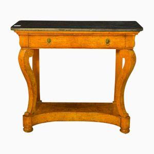 Consola Charles X francesa de olmo, década de 1810