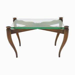 Wood & Glass Coffee Table, 1950s