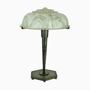 Große Art Deco Tischlampe von Muller Frères, 1920er
