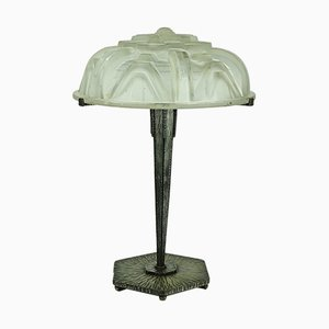 Large Art Deco Table Lamp by Muller Frères, 1920s