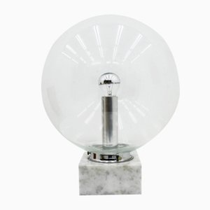 Glass and Marble Table Lamp from Erco, 1970s