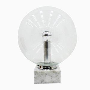 Lámpara de mesa de vidrio y mármol de Erco, años 70