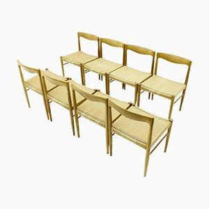 Esszimmerstühle aus Eiche von H. W. Klein für Bramin, 1960er, 8er Set
