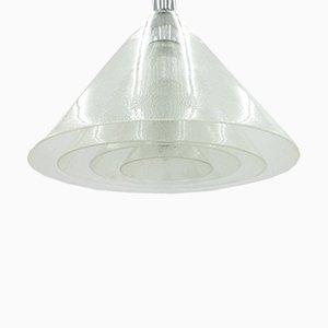 Lampada in vetro e metallo cromato di Carlo Nason per Mazzega, anni '60