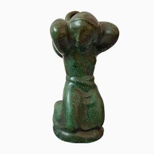 Figura Mid-Century de cerámica de Lauritz Hjorth, años 50