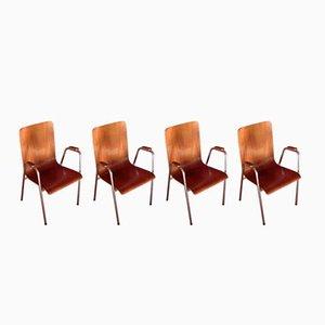Mid-Century Teak Chairs, 1960s, Set of 4