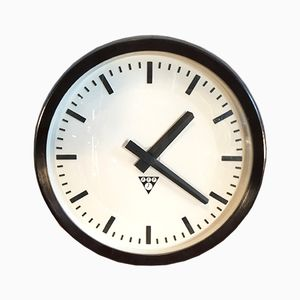 Vintage Industrial Bakelite Wall Clock from Pragotron, 1960s