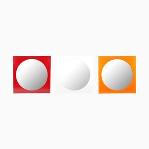 Square Methacrylate Mirrors by Giotto Stoppino for Kartell, 1972, Set of 3