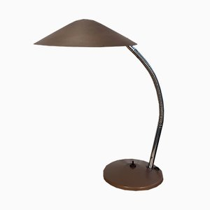 Brown Industrial Gooseneck Table Lamp from Instala, 1960s
