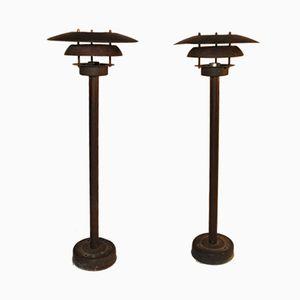 Lampadaires Vintage, Set de 2