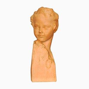 Art Deco Vintage Skulptur aus Keramik von Amedeo Gennarelli