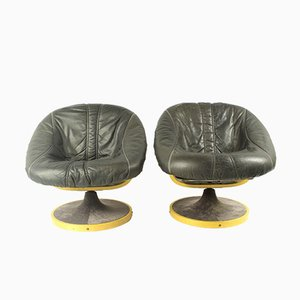 Vintage Scandinavian Swivel Chairs from SoDa Galvano, 1970s, Set of 2