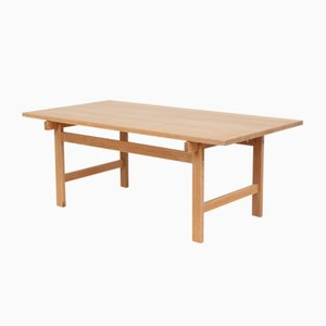 Vintage Solid Oak Coffee Table by Hans J. Wegner for PP Møbler