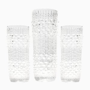 Candle Wax Vases by František Pečený for Heřmanova Huť, 1970s, Set of 3