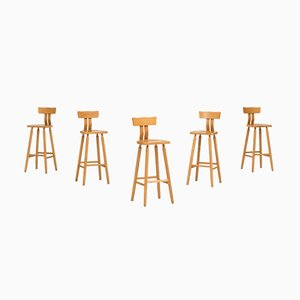 Dutch Bar Stools, 1960s, Set of 5
