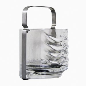 Azteca Crystal Glass Ice Bucket by Fabio Frontini for Arnolfo Di Cambio, 1970s