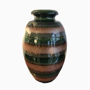 Vaso grande vintage in ceramica smaltata, anni '70