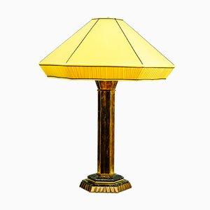 Lámpara de mesa austriaca Art Déco grande, años 20