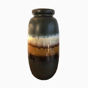 Vaso vintage grande opaco a tre colori, anni '70