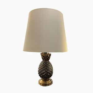 Vintage Pineapple Ceramic Lamp, 1970s