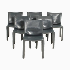 Cab Chairs von Mario Bellini für Cassina, 1970er, 6er Set
