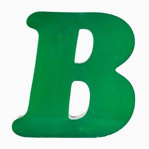 Letra B industrial de plexiglás, años 70