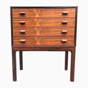 Small Mid-Century Scandinavian Rosewood Chest of Drawers