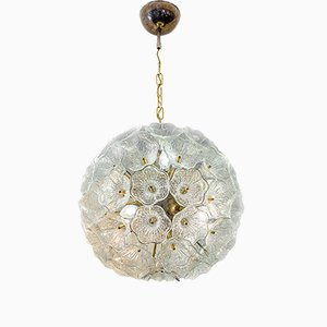 Mid-Century Italian Murano Glass Floral Chandelier, 1960s