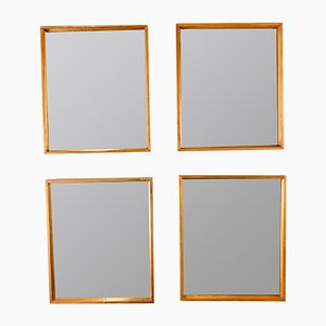 Vintage Mirrors with Teak Frames, Set of 4