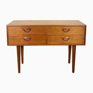 Small Teak Chest of Drawers by Kai Kristiansen for Feldballes, 1960s