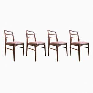 Mid-Century Stühle aus Afromosia von Richard Hornby für Fyne Ladye, 4er Set