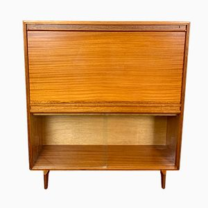 Mid-Century Glass and Teak Bureau