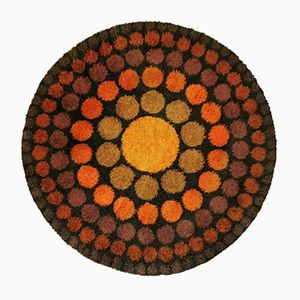 Round Roulette Rug by Verner Panton, 1960s