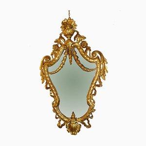 Antiker Spiegel mit Rahmen aus geschnitztem Holz, 2er Set